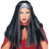 Popular Price Long Wig Black w/ Streaks 24